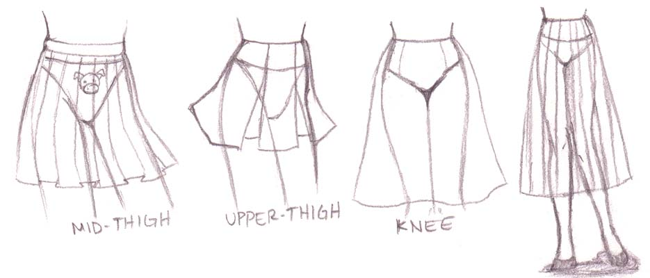 Pleated Skirt Drawing | www.pixshark.com - Images ...